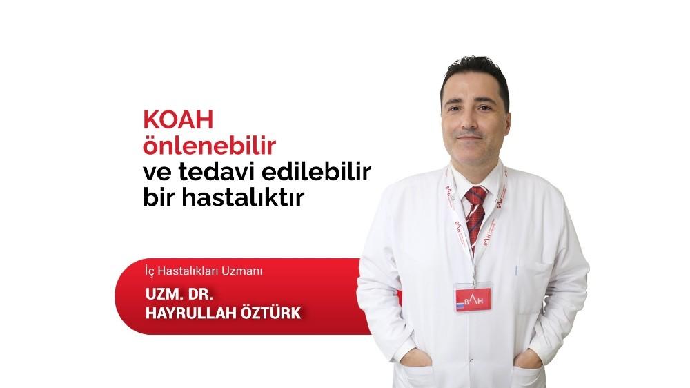 Dr. Öztürk: KOAH önlenebilir ve tedavi edilebilir bir hastalıktır