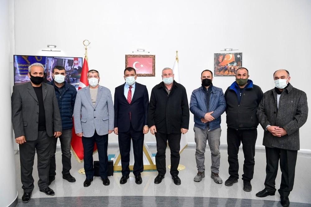 Esnaflardan Başkan Gürkan'a ziyaret