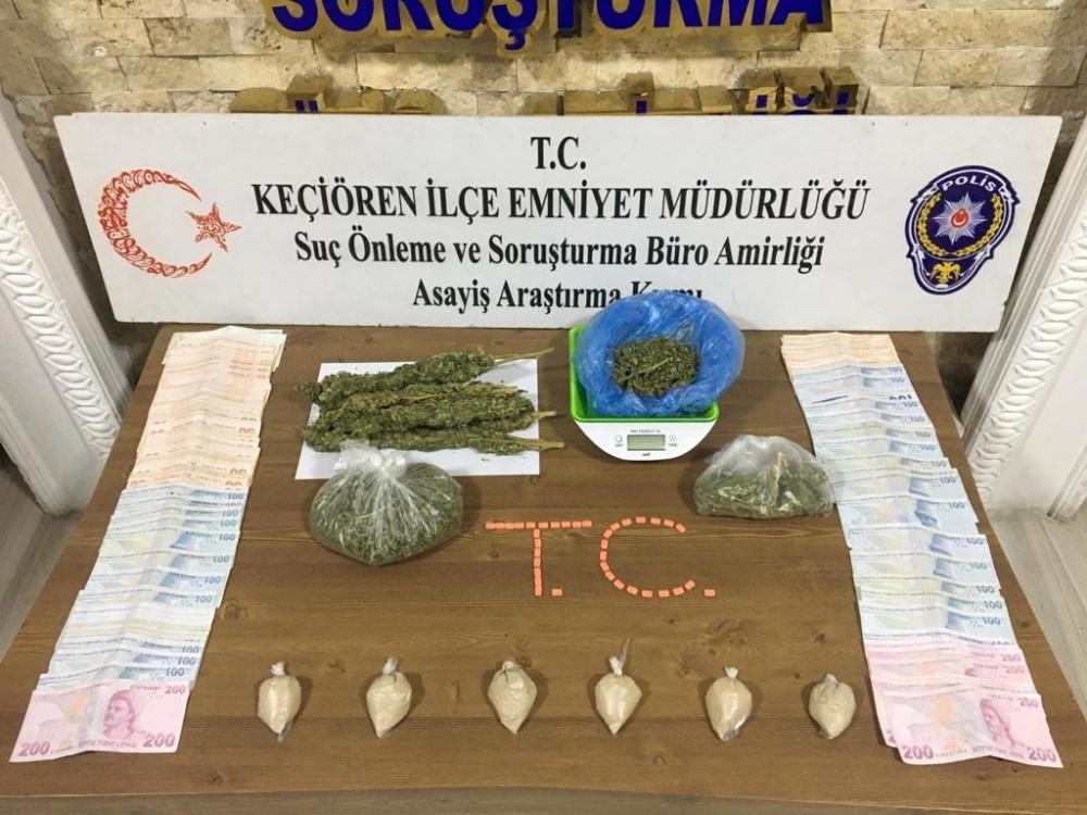 Ankara'da toplam 46 suç kaydı bulunan 3 kişi uyuşturucu madde ile yakalandı