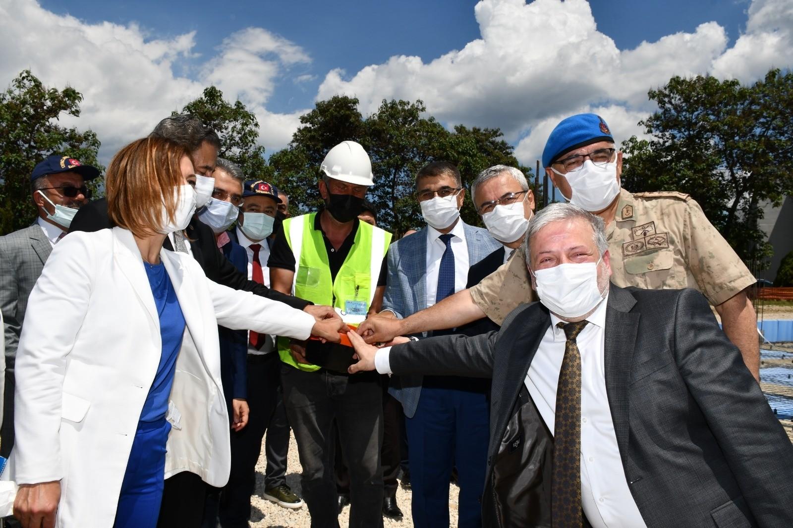 125. Jandarma Eğitim Alay Komutanlığında cami inşaatı temeli törenle atıldı