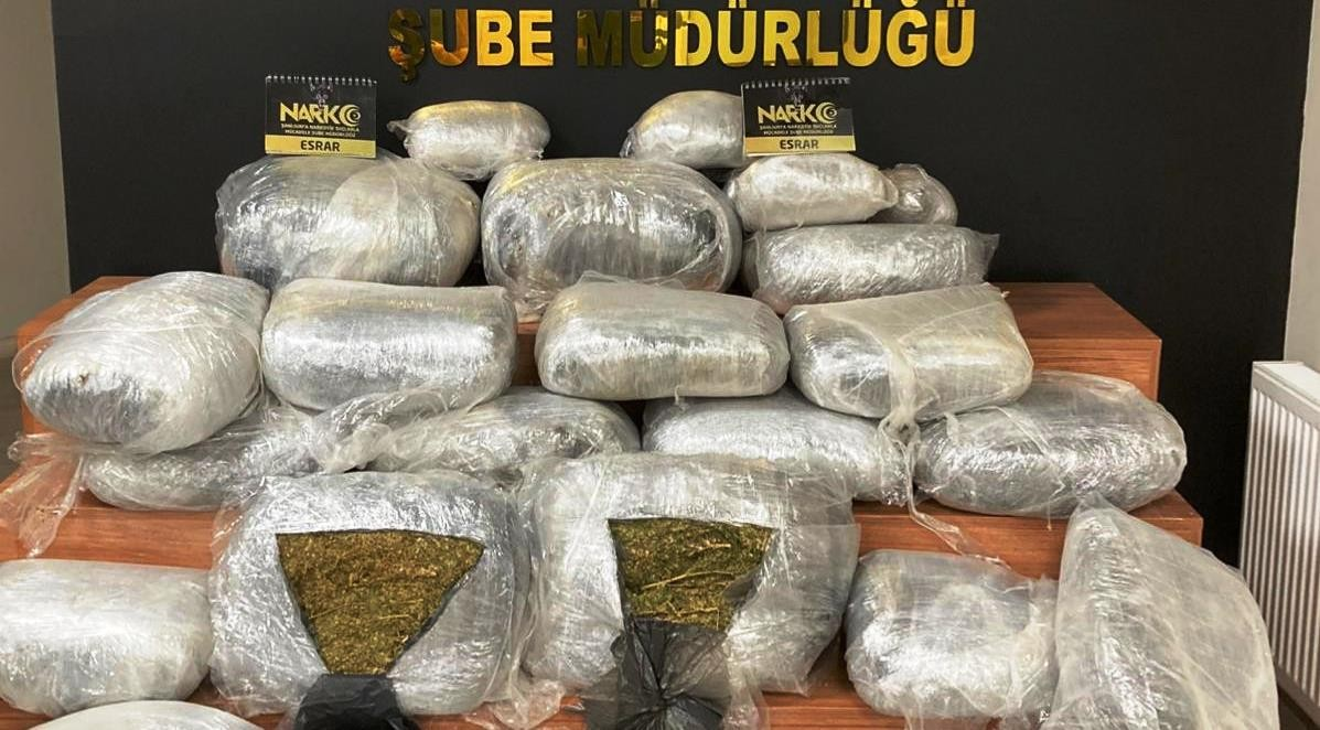 Şanlıurfa'da 125 kilogram esrar maddesi ele geçirildi