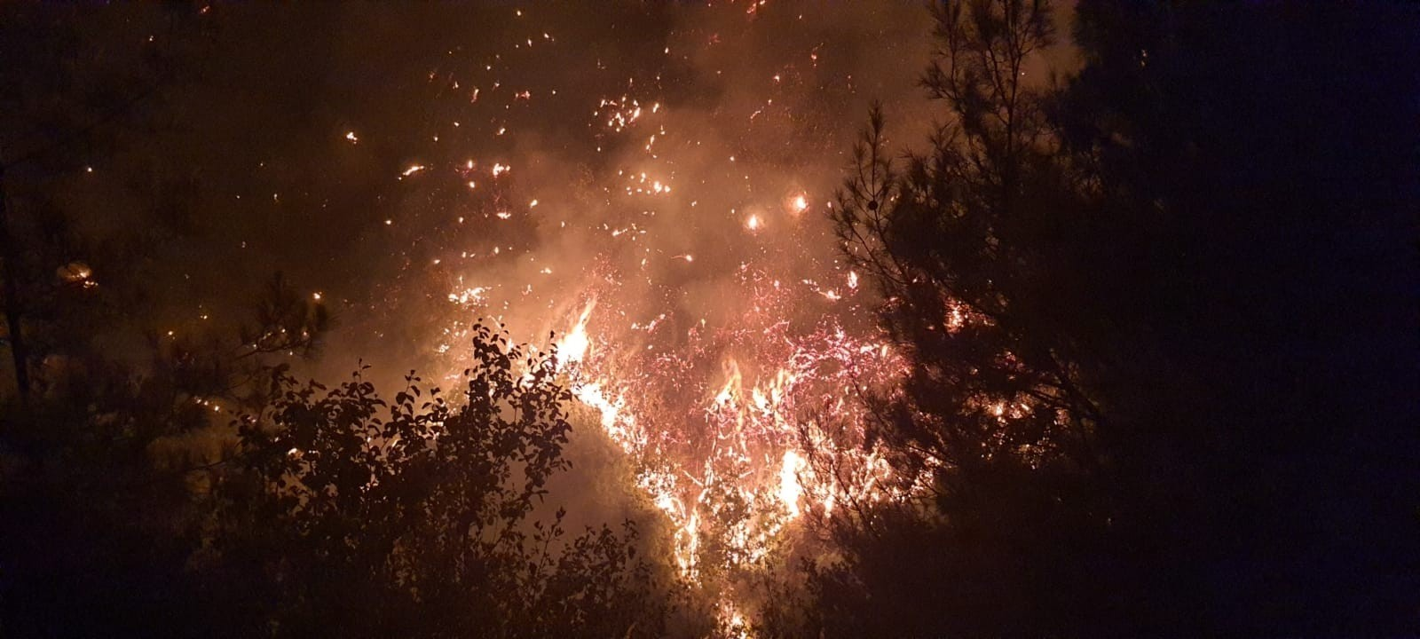 Karacalar köyündeki yangın kısmen kontrol altına alındı