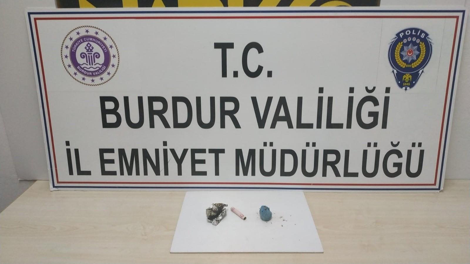 Burdur'da uyuşturucu operasyonuna 1 tutuklama
