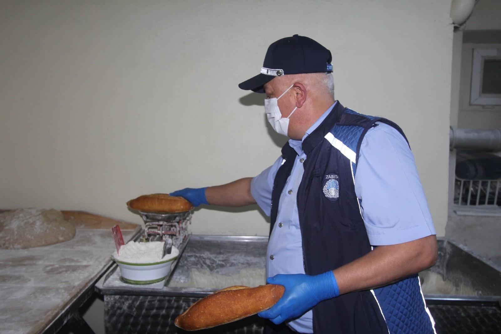 Bayburt'ta zabıtadan fırın denetimi
