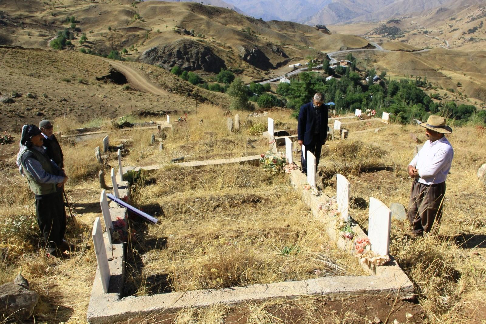 Geçitli patlamasında ölen 9 kişi mezarları başında anıldı #hakkari