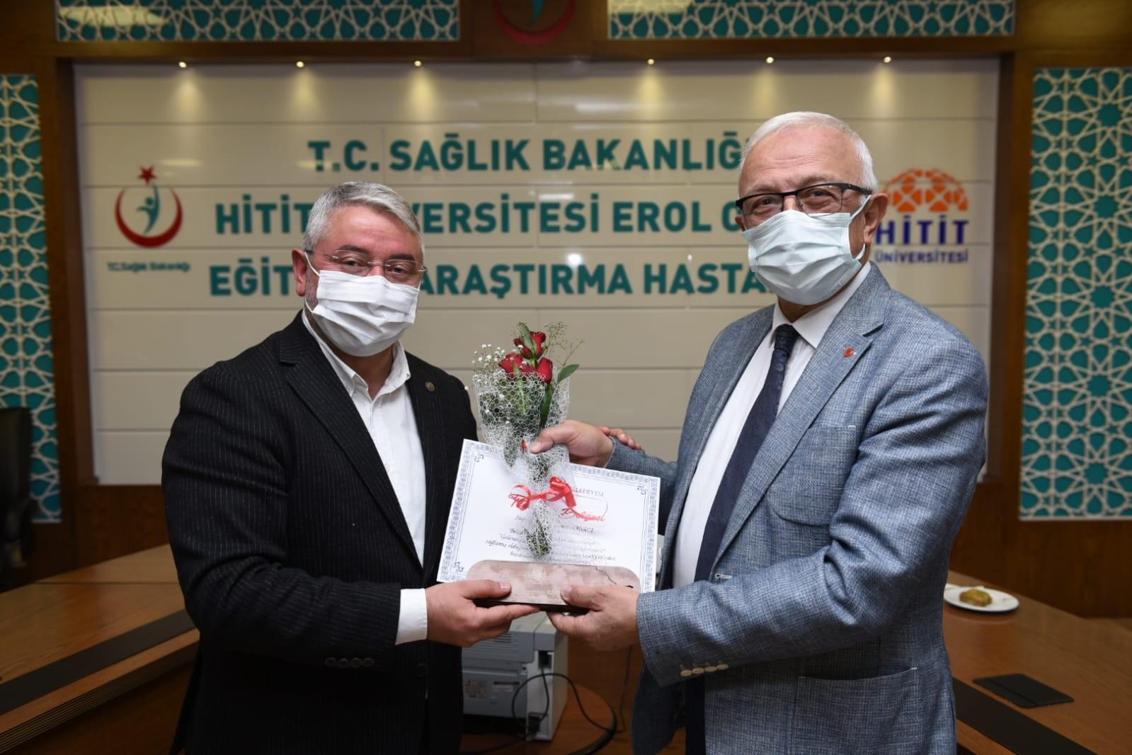 Başkan Aşgın'dan sağlık çalışanlarına teşekkür #corum