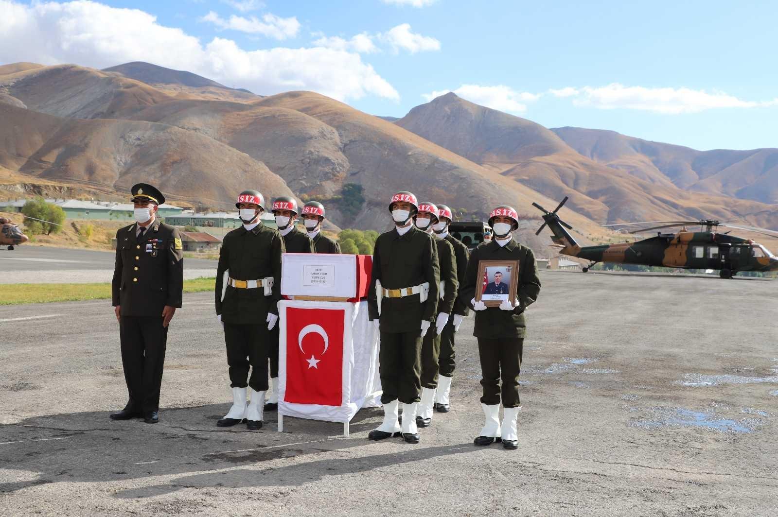 Şehit Eser için Hakkari'de tören düzenlendi #hakkari
