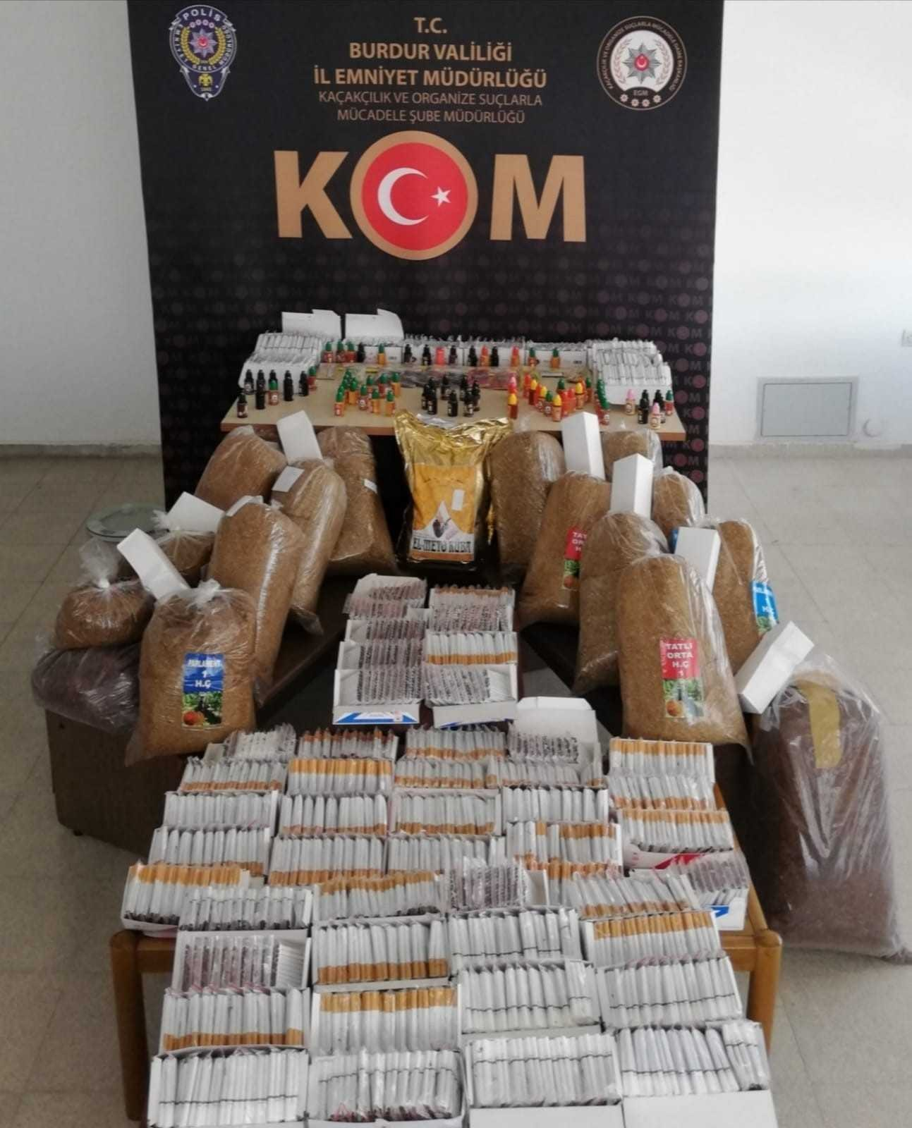 Burdur'da kaçak sigara operasyonu #burdur