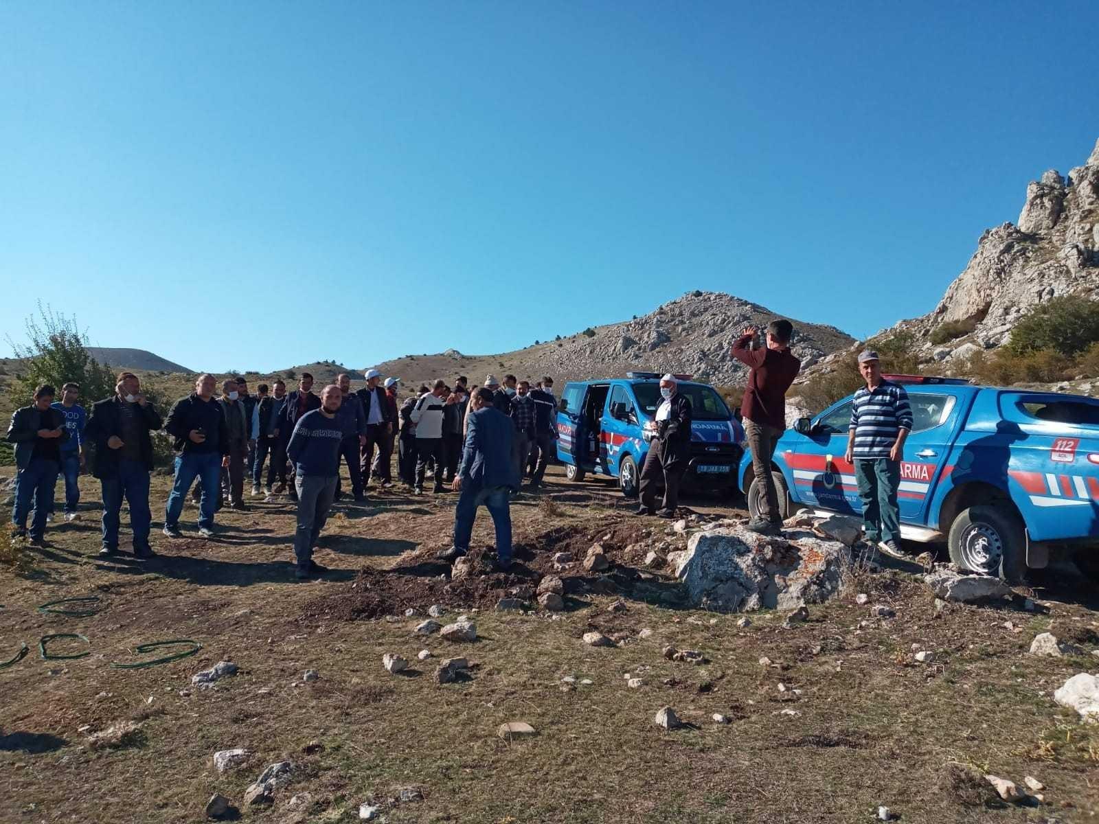 Su meselesi yüzünden köylüler ve jandarma karşı karşıya geldi #corum