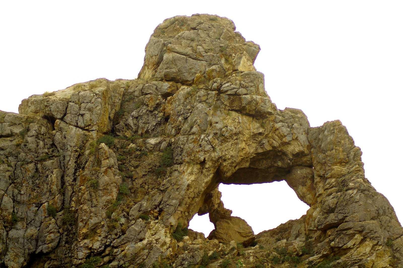 Yüksekova'da 'Düşünen Maymun' figürlü kayalık şaşırtıyor #hakkari