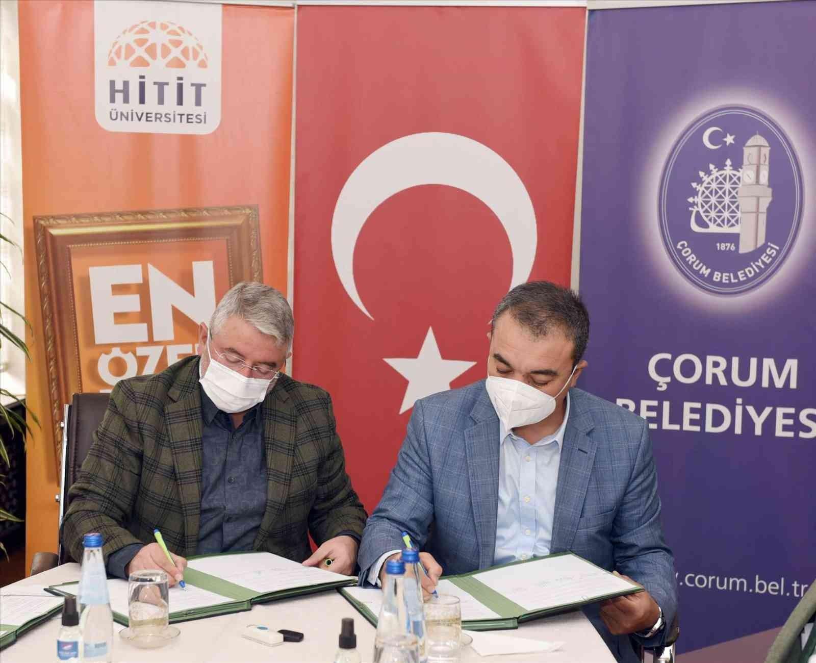 Çorum'a değer katacak 3 proje için imzalar atıldı #corum