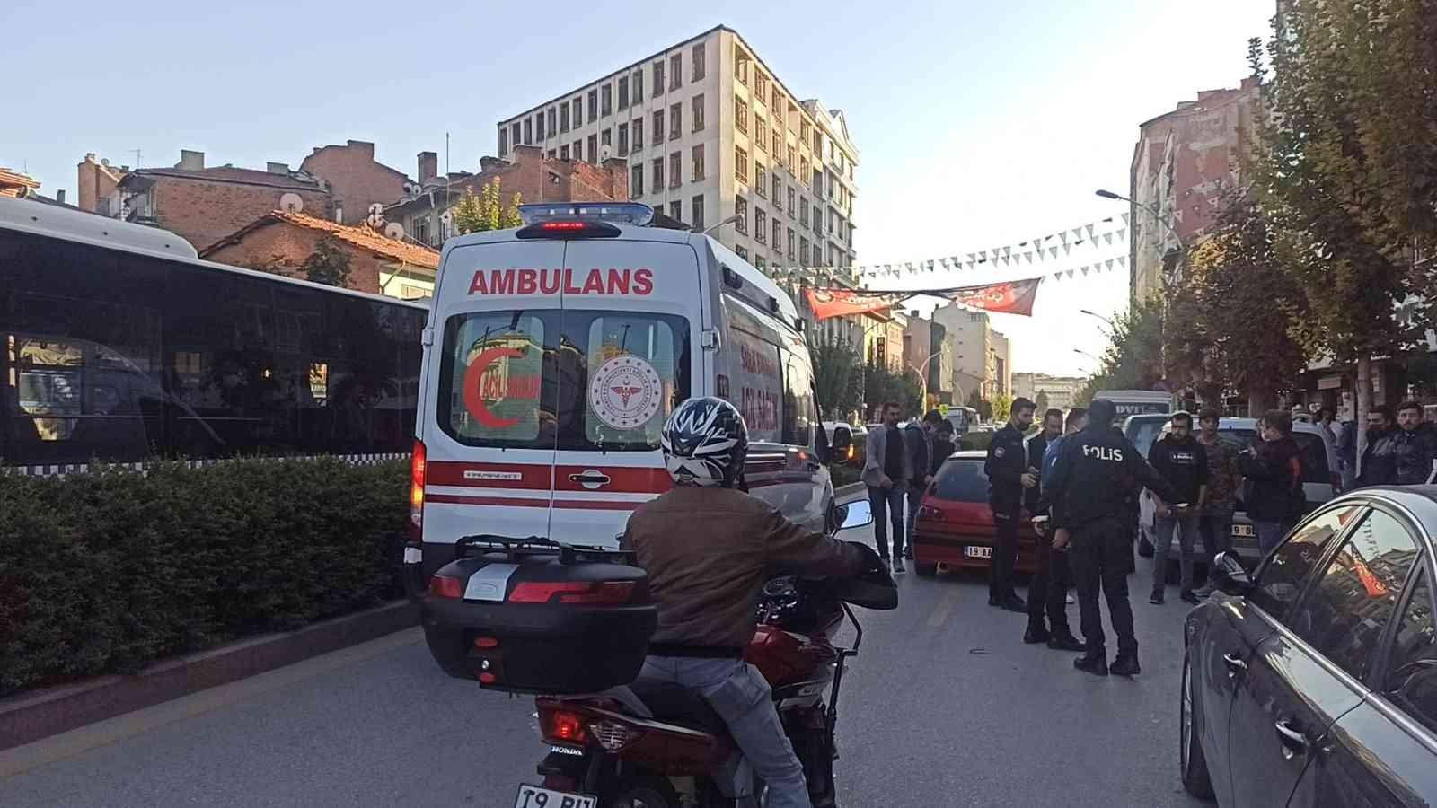 Çorum'da silahlı kavga: 1 yaralı #corum