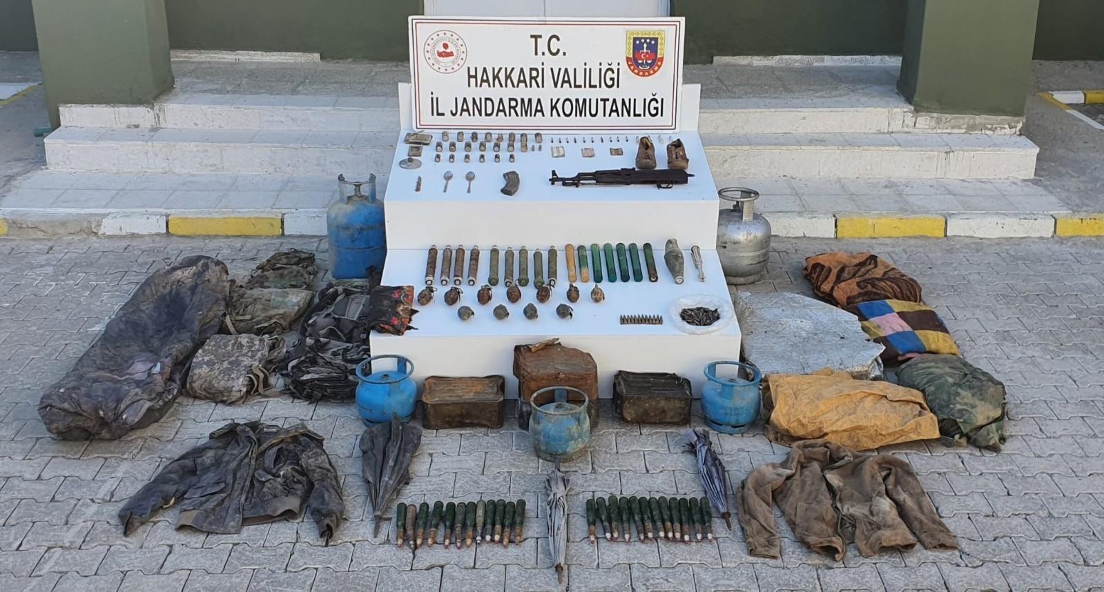 Yüksekova'da çok sayıda mühimmat ele geçirildi #hakkari