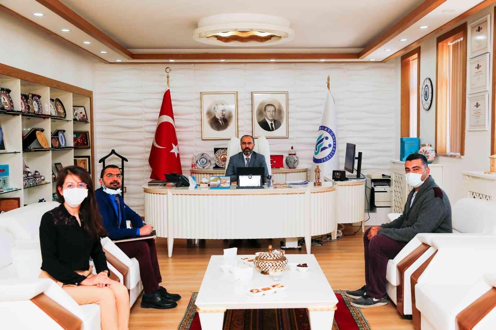 Rektör Prof. Dr. Türkmen, akademik ve idari personelleri ağırladı #bayburt