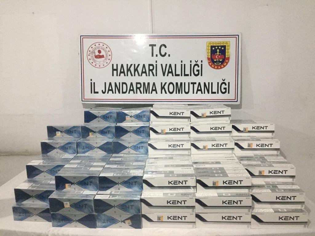 Hakkari'de 3 bin 960 paket sigara ele geçirildi #hakkari