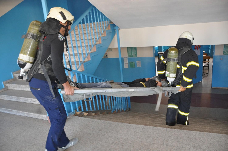 Yüksekova'da yangın tatbikatı #hakkari