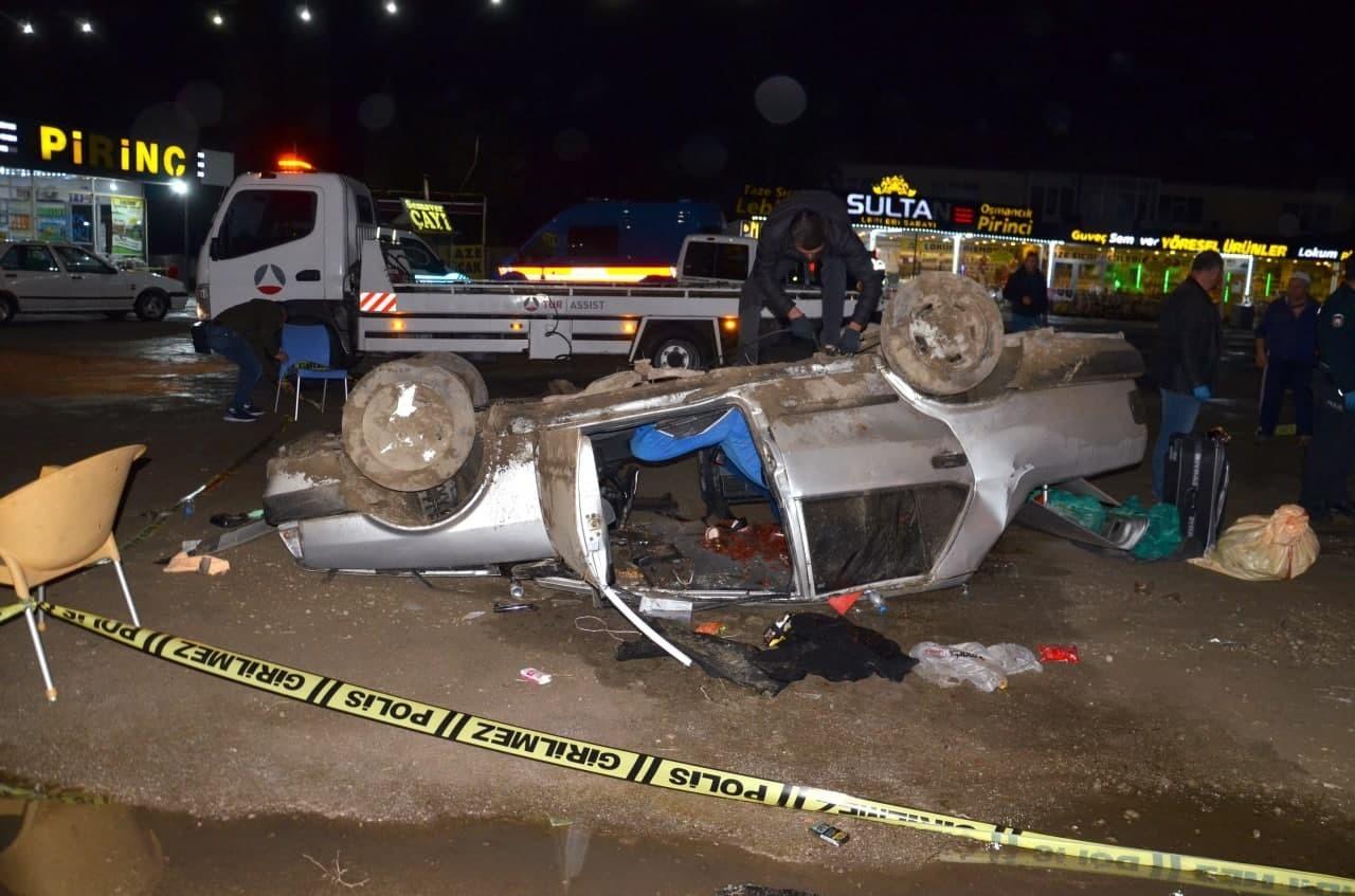 Otomobil takla atarak devrildi, anne oğul ölümden döndü #corum