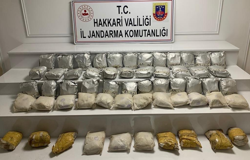 Yüksekova kırsalında 60 kilo eroin ele geçirildi #hakkari