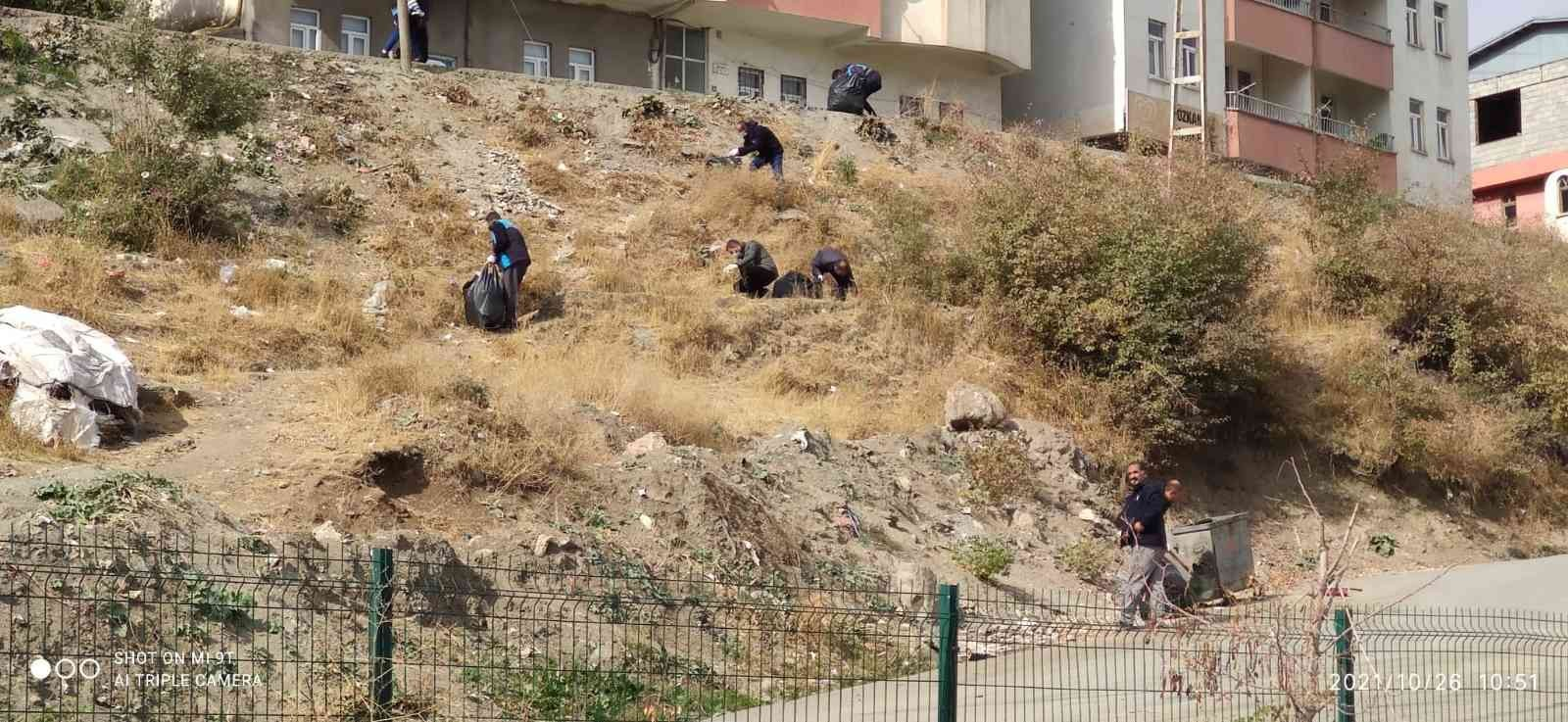 Hakkari'de temizlik kampanyası takdir topladı #hakkari