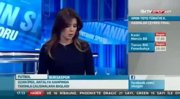Ntv Spor'un spikeri ağlayarak haber anlattı