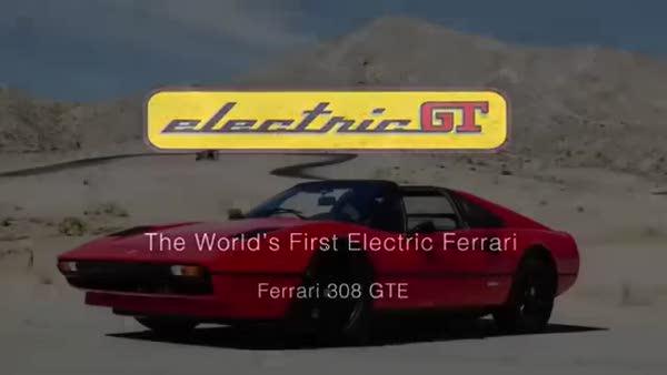 Dünyanın ilk elektrikli Ferrari'si
