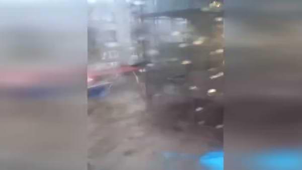 Trabzon'daki selin şiddeti kamerada