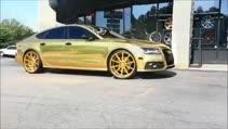Bunu da gördük! Gold Audi A7!