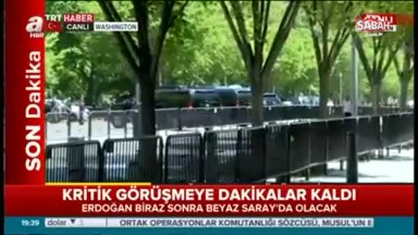 ABD Başkanı Trump, Cumhurbaşkanı Erdoğan'ı kapıda karşıladı