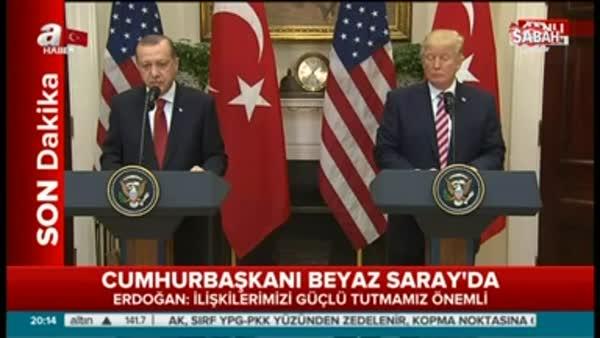 Cumhurbaşkanı Erdoğan: YPG'nin muhatap alınması uygun değil
