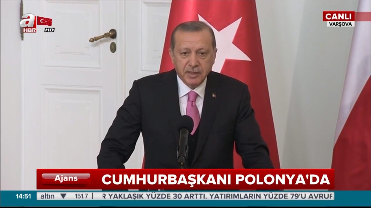 Cumhurbaşkanı Erdoğan ve Polonya Cumhurbaşkanı Andrzej Duda'dan ortak açıklama
