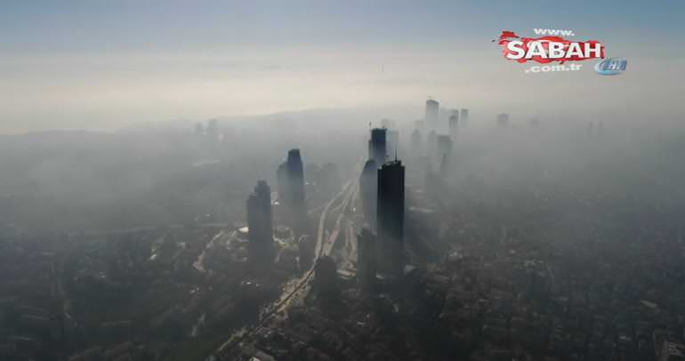 Sis altındaki İstanbul'un havadan çekilen görüntüleri mest etti
