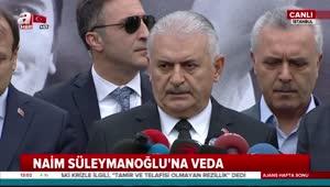 Başbakan Yıldırım Naim Süleymanoğlu'nun cenaze namazı öncesi açıklama yaptı