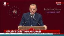 CumhurbaşkanıErdoğanİstihdam Şurası'nda konuştu