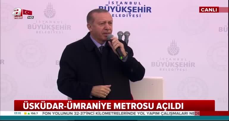 Cumhurbaşkanı Erdoğan, Üsküdar Ümraniye Metro Hattı'nı açtı