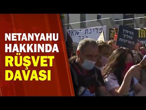 Mahkeme Önünde Netanyahu Protestosu