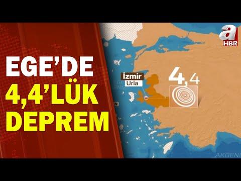 İzmir'in Urla İlçesi Açıklarında 4,4 Büyüklüğünde Deprem