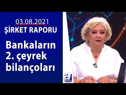 Bankaların 2. çeyrek bilançoları / Şirket Raporu / 03.08.2021